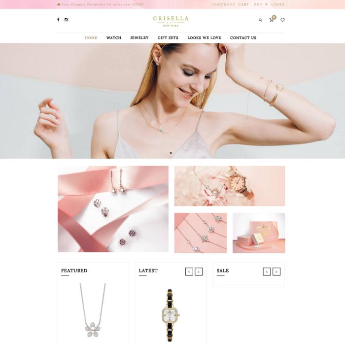Crisella WordPress Website (with WooCommerce)