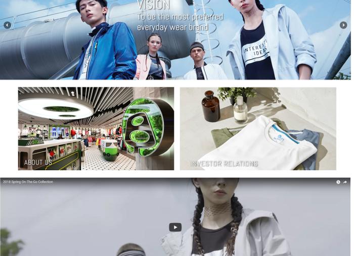 Bossini Corporate WordPress Website