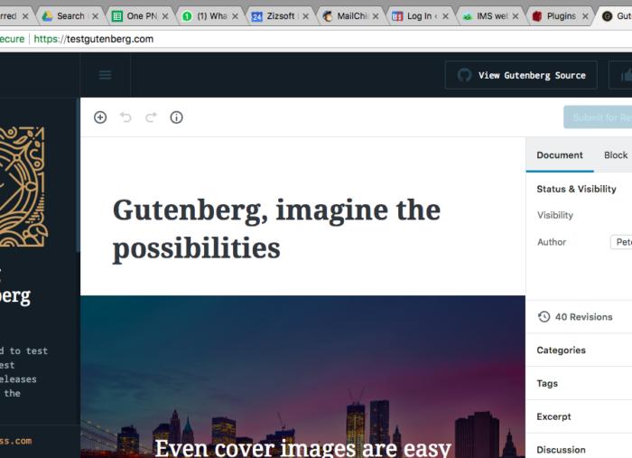 Gutenberg, WordPress New Editor