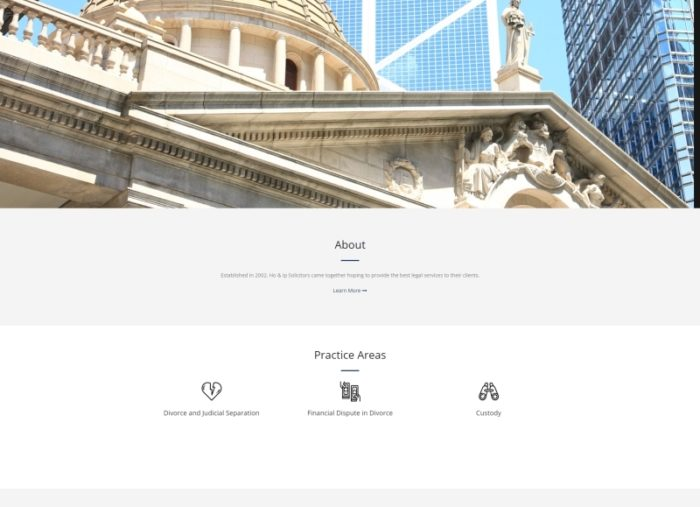 HO & IP Solicitors WordPress Website